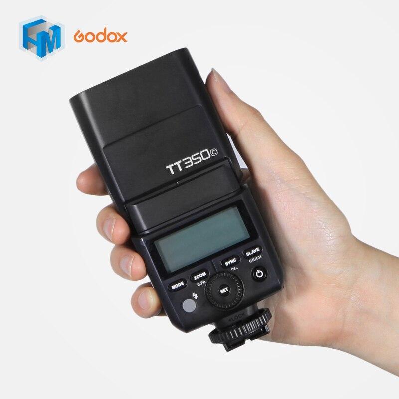 Godox Mini TT350C 2,4G TTL HSS GN36 Flash para Canon 5D Mark III/IV 80D 6D 5D III Flash Speedlite Cámara