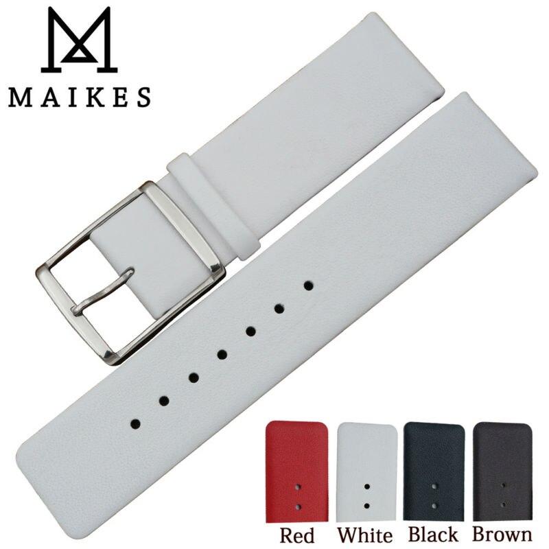 MAIKES-Correa de reloj de cuero genuino, de alta calidad, para CK Calvin...