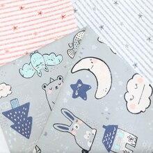 Moon Night Konijn Gedrukt katoen voor diy naaien quilten patchwork tecido tela kleding baby beddengoed textiel tissus tilda