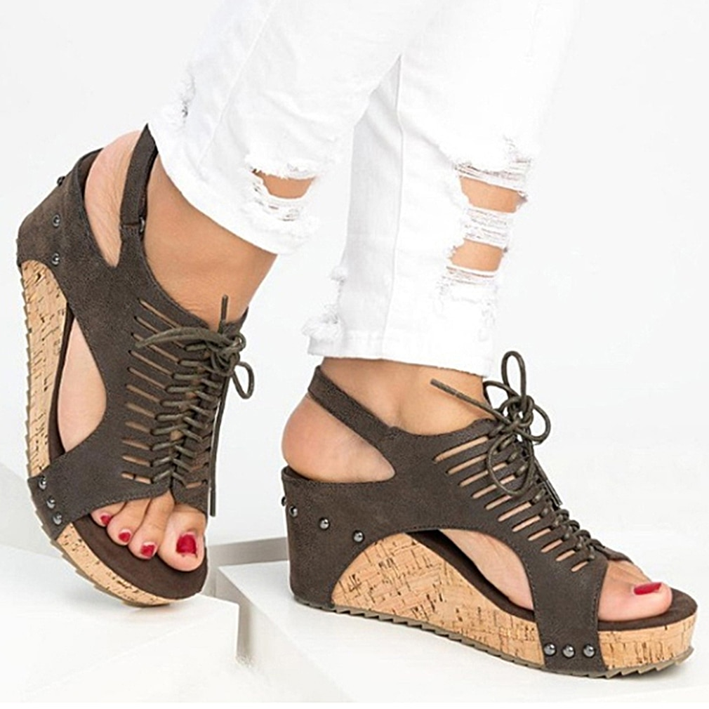 Platform Sandals Wedges Shoes For Women Heels Sandalias Mujer Summer Shoes Clog Womens Espadrilles Gladiator Women Sandals 2020
