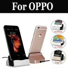 Usb Chargeur Dock Support Magnétique Pour support de téléphone portable Pour Oppo R9s R9s Plus F3 Plus R11 R11s F5 R15 Rx17 Neo A83 F7 Ax7 A5 A3s R15
