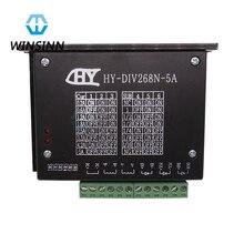 WINSINN HY-DIV268N-5A TB6600 0.2-5A 12-48V Stepper Motor Driver Controller For CNC Nema 17 23 24 34 Single Axis Dual 2 4 Phase