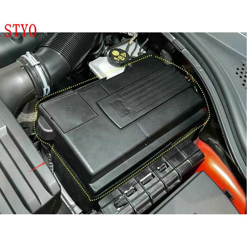 STYO Car Engine Battery Cover For  TIGUAN Kodiaq Karoq Octavia Mk3 Superb Positive Negative Battery Anode Electrode Shell
