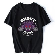 Ghost Gym Pokemon Japan T Shirt Funny Manga Otaku Harajuku Streetwear Short Sleeve Cute Print Men T Shirt Camisetas Hombre