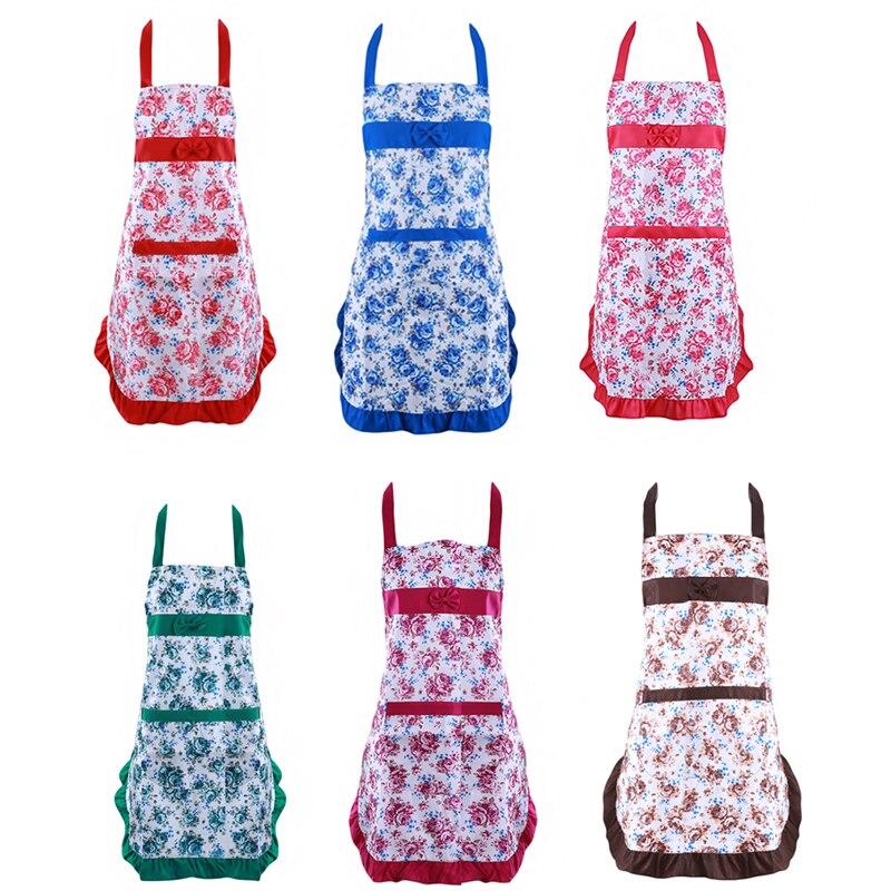 Kochen Küche Schürzen Baumwolle Polyester Mischung Anti-tragen Küche Schürze Für Frau Kellner Cafe Shop BBQ Friseur Schürzen