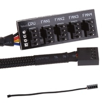 39.5 Cm 1 Tot 5 4-Pins Molex TX4 Pwm Cpu Koeler/Case/Chassis Koelventilator kabel Hub Splitter Adapter