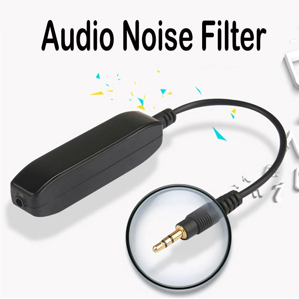 O isolador audio do ruído do laço de earthing do anti-jammer do filtro audio de ruído de 3.5mm aux elimina o ruído atual do veículo