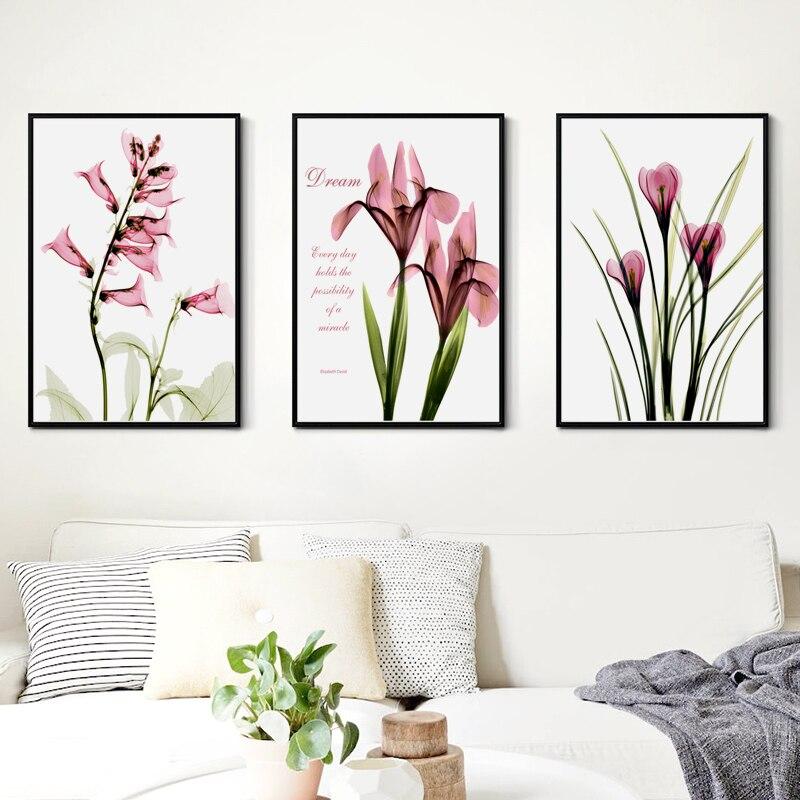 Saily garcia simples cor-de-rosa arte ferradura lotus a4 pintura em tela impressão cartaz imagem sala estar quarto casa mural decorativo