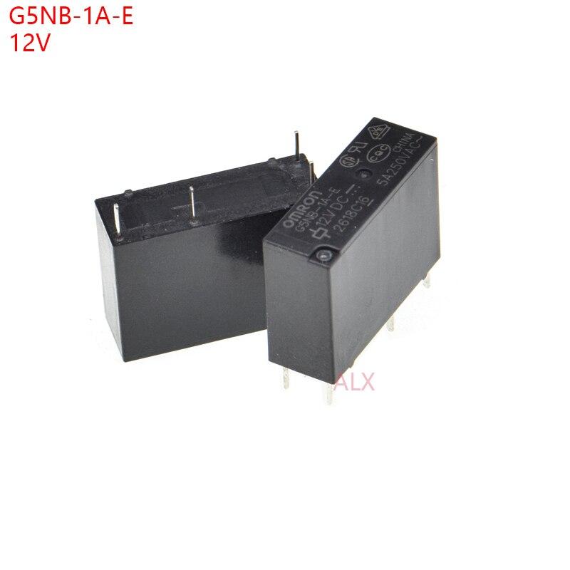 10 pçs G5NB-1A-E omron relé de potência 12vdc 5a 250vac 4pin 1 grupo normalmente aberto G5NB-1A-E-12VDC dc 12 v dc12v realys