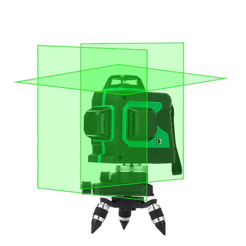 LETER 12 ライン 3D レーザーレベル自己レベリング 360 水平と垂直クロス超強力なレーザービームライン