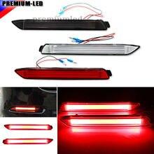 (2) OEM JDM Estilo Luzes LED Bumper Refletor Óptico 3D Para Lexus & Toyota Substituir Estoque Pára Reflexivo Lente