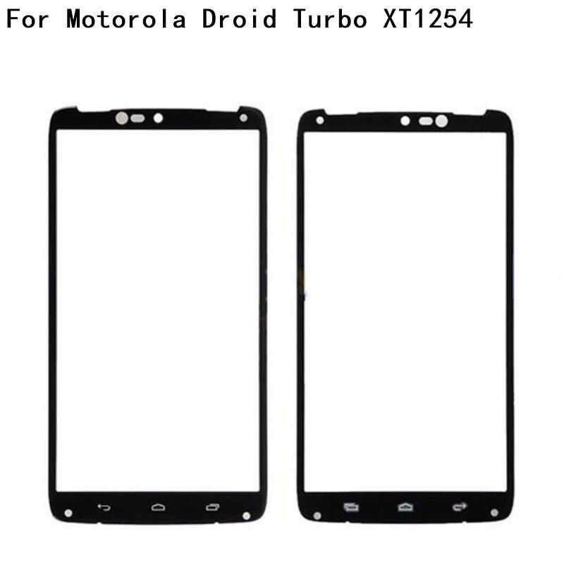 Original reemplazo negro LCD pantalla táctil frontal de vidrio exterior lente para Motorola Droid Turbo XT1254 XT1225 Moto Maxx,