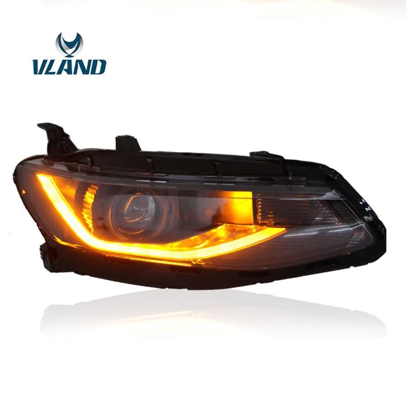 Vland מפעל אביזרי רכב ראש מנורת עבור שברולט מאליבו XL LED ראש אור עם קסנון תקע ולשחק עיצוב