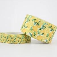 new lemon printed grosgrain ribbon diy handmade accessories wedding decoration diy sewing crafts 16mm 22mm 25mm 38mm 57mm 75mm