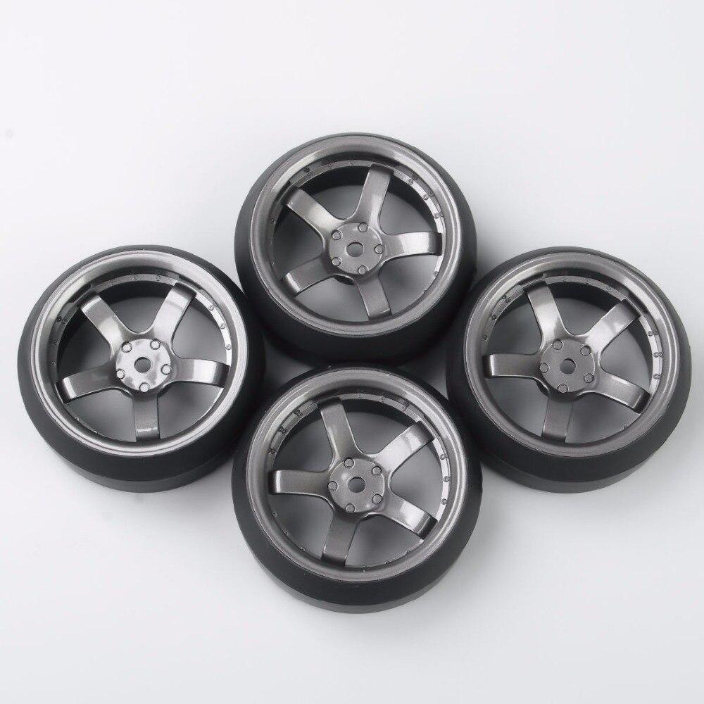Купить с кэшбэком 4pcs/set Rc 3 Degree Drift Tires&wheel Rim for Hpi Hsp 1:10 On-road Car Truck Model Toys Parts D5m+pp0367