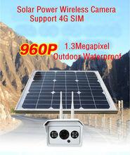 SmartYIBA 960P 1.3M 4G SIM Card Solar Power Battery Surveillance CCTV Camera Wireless WIFI Outdoor Waterproof IP Camera System