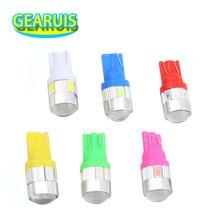 Lentille en aluminium 5630 6 SMD   T10 5730 6SMD 3W, haute puissance 194 SMD 168 W5W, lumières cale Auto, blanc bleu rouge jaune DC 12V