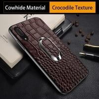 Luxury Phone case For Huawei P10 P20 Lite Mate 9 10 Pro Case Crocodile Texture bracket For Honor 9 V9 V10 Nova 2s Plus case