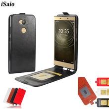 Funda de teléfono con tapa vertical para Sony Xperia L2, funda de piel sintética de 5,5 pulgadas para Sony Xperia L2 H4311, funda con soporte y ranuras para tarjetas