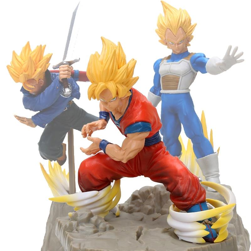 Dragon Ball Z Absolute Perfection Figure Goku Vegeta trunks SSJ Toy Model Brinquedos DBZ  Figurals Model Brinquedos