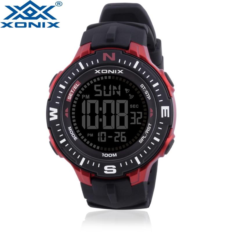 Fashion Casual Men Sports Watches Waterproof 100m Outdoor Stopwatch countdow Digital Watch Swimming Diving Wristwatch NK