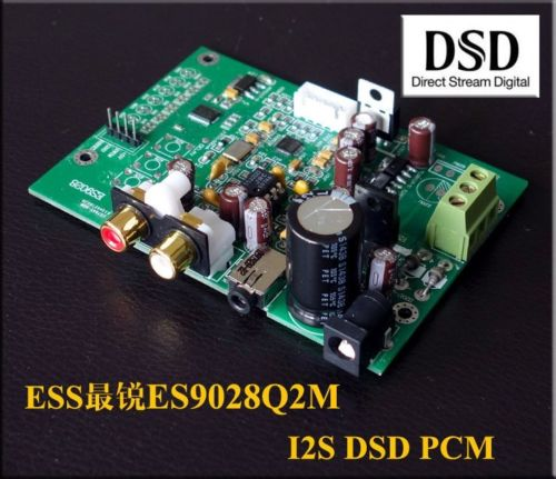 Es9028q2m es9028 i2s placa de decodificação entrada dac pcm dsd ne5532 op amplificador amplificador diy dsd IIS-32bit 384 k atualizar es9018