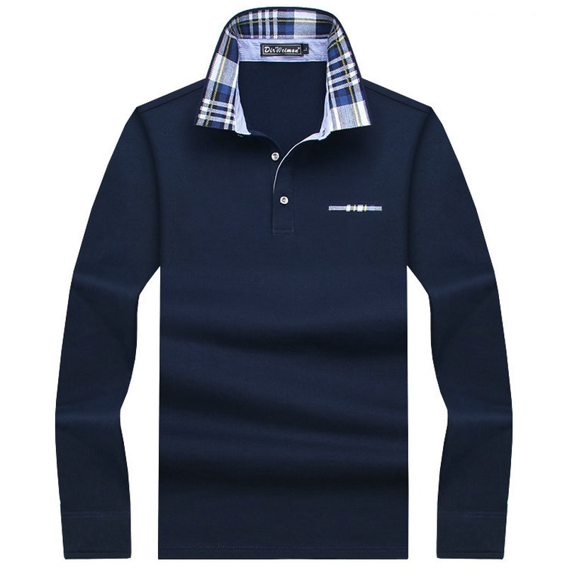 2019 Casual baumwolle Männer Polo Hemd Dicker Mens Langarm Solide Polo Shirts Camisa Polos Tops T-shirts Plus größe 7XL 8XL 9XL 10XL