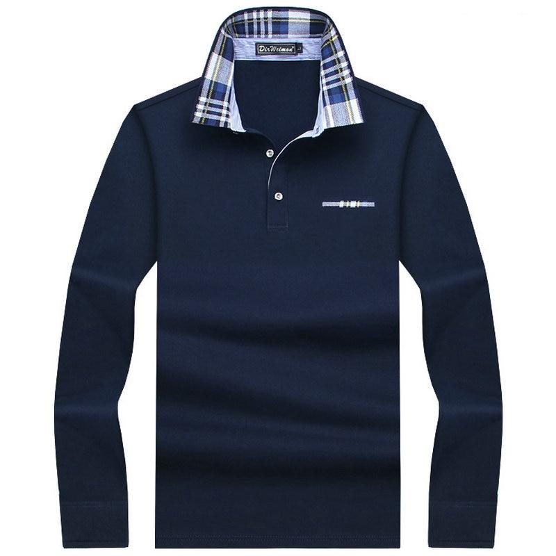 2019 Casual cotton Men Polo Shirt Thicker Mens Long Sleeve Solid Polo Shirts Camisa Polos Tops Tees Plus size 7XL 8XL 9XL 10XL
