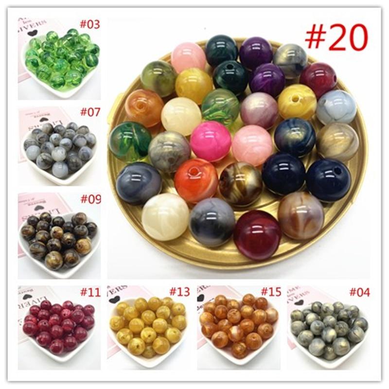 10 teile/los 14mm von Acryl Perlen Ohrringe Halskette Zubehör Perlen Für Schmuck Machen DIY Schmuck Erkenntnisse
