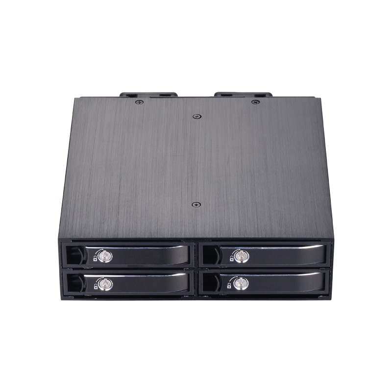 4-bay 2.5 inch internal SATA HDD/SSD aluminum mobile rack with hot-swap support 7mm / 9.5mm / 15mm HDD/SSD enclosure with lock