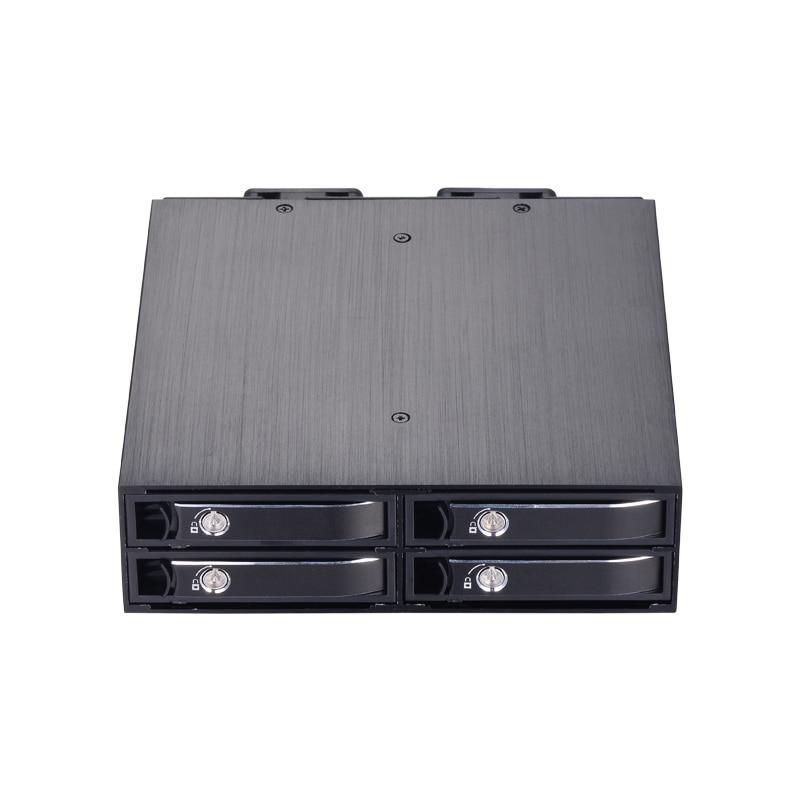 4-bay 2,5 дюйма внутренний SATA HDD/SSD алюминиевый мобильный стеллаж с поддержкой горячей замены 7 мм/9,5 мм/15 мм HDD/SSD корпус с замком