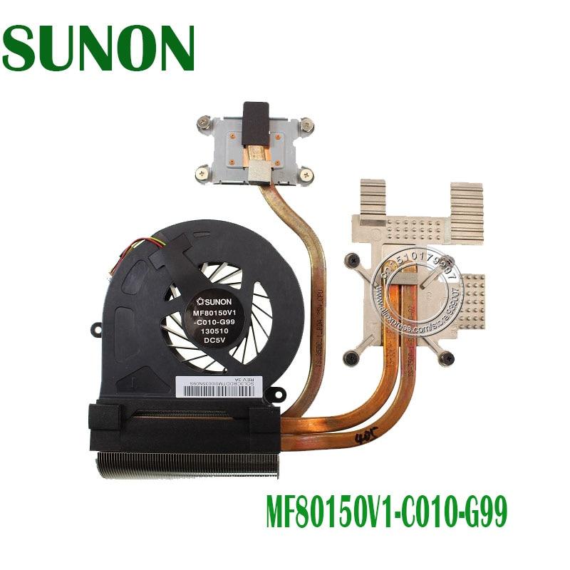 Genuine For TOSHIBA X70 Series Heatsink with Cooling Fans SUNON MF80150V1-C010-G99 SOL3BDCTM0I0035N0FS