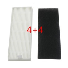 4 комплекта HEPA фильтр хлопок для новых продуктов ilife A4s A6 A4 A40/Ecovas DN621 X620 робот сменный вакуумный фильтр
