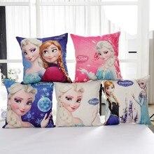 Remises congelées Elsa Anna princesse filles décoratives/sieste taies doreiller housse de coussin 1 pièce sur lit canapé enfants cadeau danniversaire