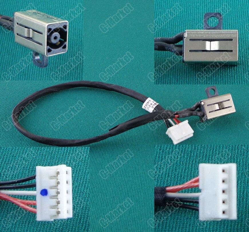 1-20 unids/lote potencia para Dell B551 Inspiron MICRO conector hembra DC Jack con cable DC portátil conector Jack con cable