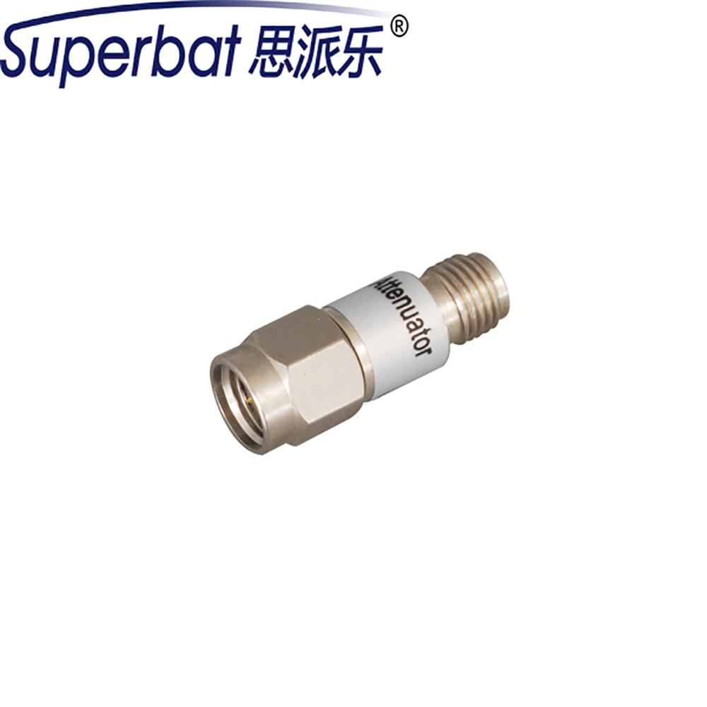 Superbat SMA Atenuador SMA Plug to Jack,2Watt,DC-6Ghz 15dB/20dB/40dB RF Conector Coaxial