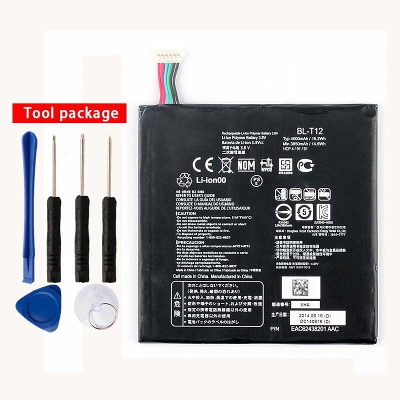 Original High Capacity BL-T12 Battery for LG G pad 7.0 V400 V410 BL-T12 4000mAh