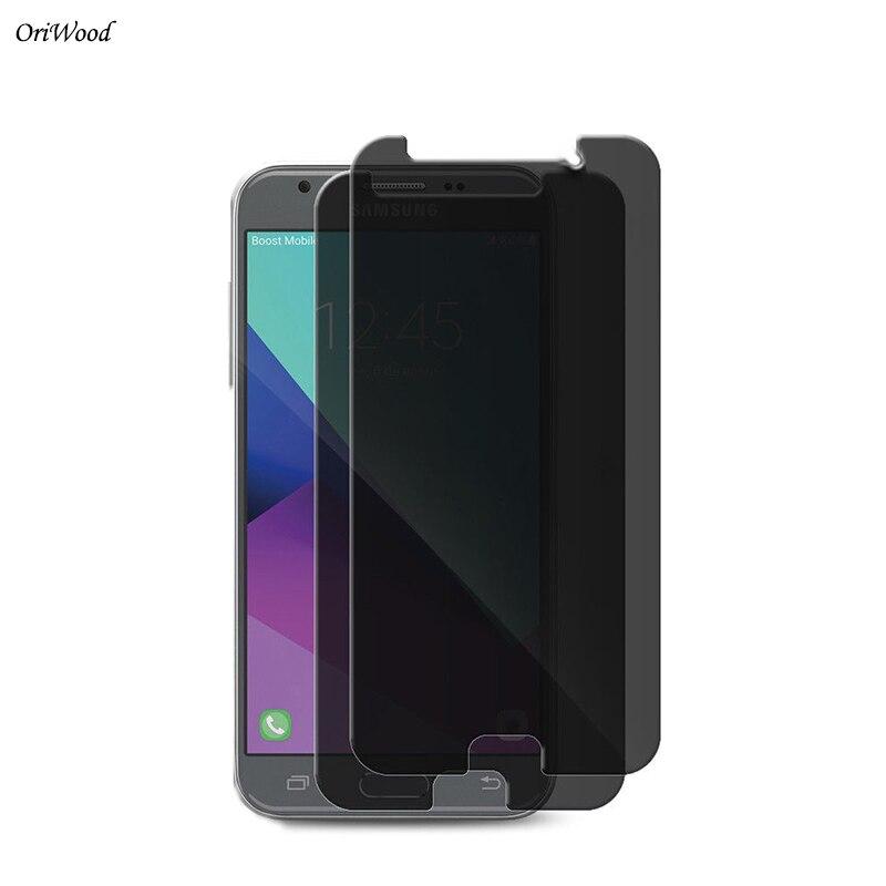 OriWood Anti Spy  Black Screen Protector Privacy Tempered Glass For Samsung Galaxy J4 J6 2018 J4 2018 J6 2018 Privacy Film Guard