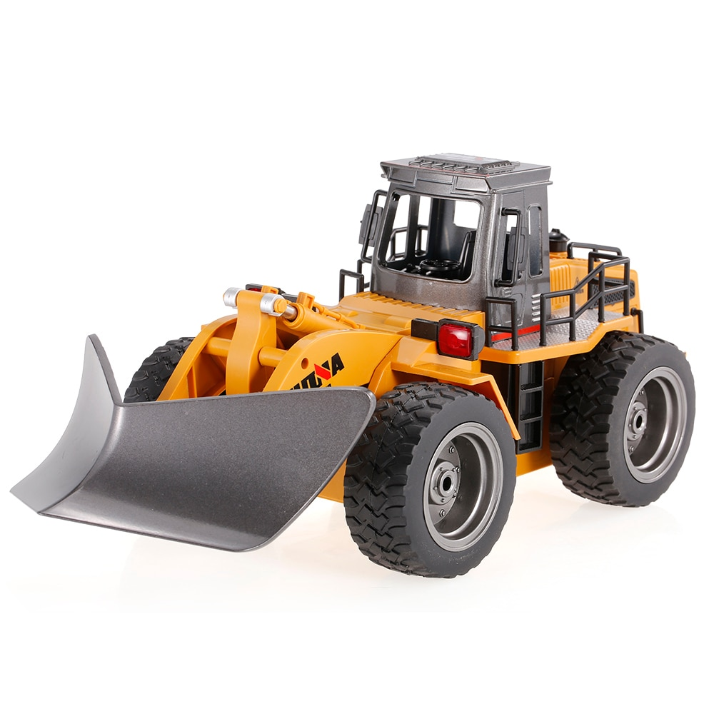 Alloy Construction Vehicle Model Toy 2.4G 6CH Remote Control RC Bulldozer Truck 1/18 Engineering Snowplow Model Truck With Light enlarge