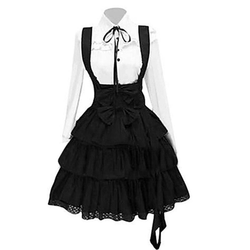 Винтаж элегантные вечерние Готический летние Для женщин платья в стиле Лолита больших Размеры шик, со шнуровкой и оборками, с бантом; В стиле ретро; Стиль «Принцессы», в готическом стиле, платье