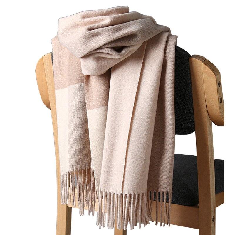 2020 neue Echt Cashmere Schal Stola Plaid Wolle Schals für Frauen Winter Warme Weibliche Poncho Cape Mode Dame 100 Pashmina schals