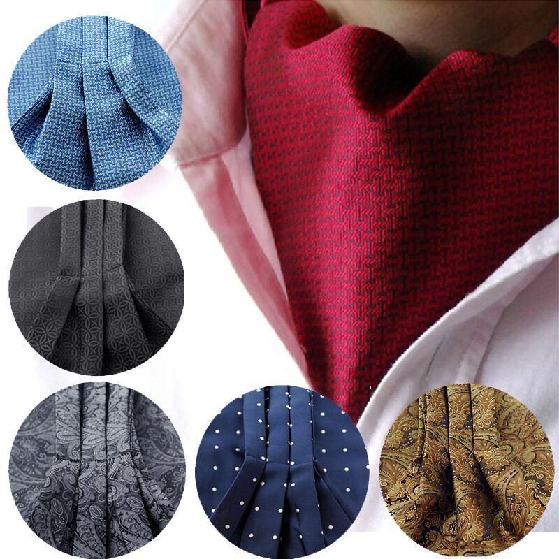 SHENNAIWEI New Fashion men ascot cravat tie Jacquard Ties Woven Party Shirt  For Spring Autumn Winte