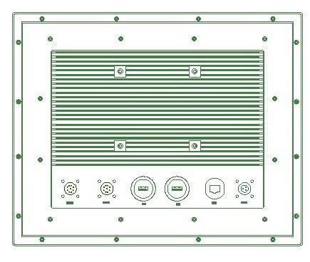 15 inch waterproof panel PC, i3-4005U CPU,4GB DDR3L RAM ,500GB HDD, IP65 / IP66 fanless panel pc, industrial computer