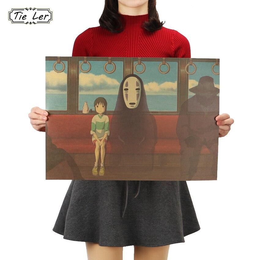 Галстук Лер классический мультфильм фильм крафт-бумага бар постер Ретро стикер на стену декоративная роспись 51.5X36cm