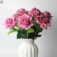 12cm Durchmesser Große Rose Dekorative Home/Hochzeit Dekoration Real Touch Latex Blume Rose
