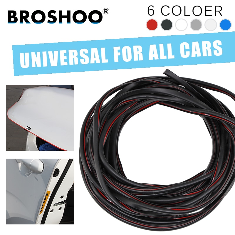 BROSHOO Auto puerta Protector lateral rasguño choque goma tira adhesiva para MINI Cooper Roaderster un Coupe Countryman coche Styling