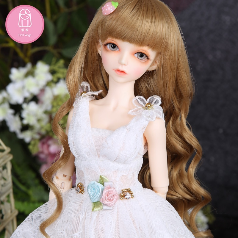 Парик для кукол BJD, бесплатная доставка, bjd, парик 7-8 дюймов, 1/4, высокотемпературный парик для девочек, короткие волосы, кукла с челкой, модный тип, стильный
