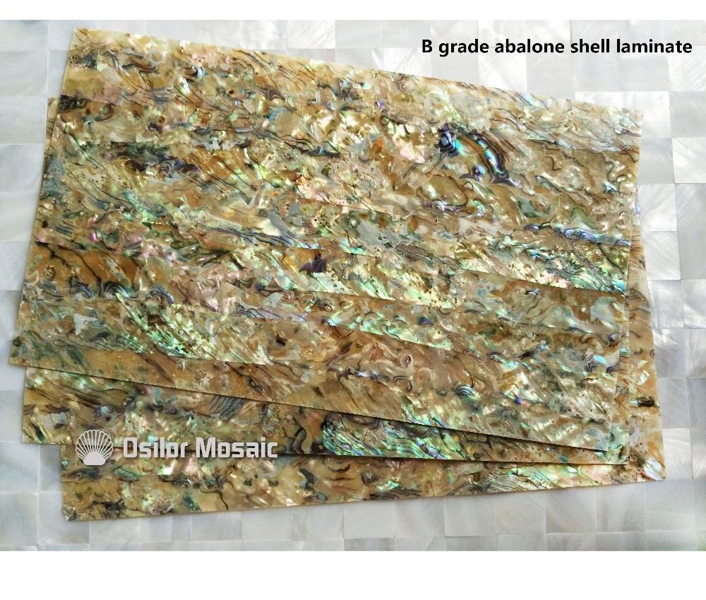 Superficie natural de grado B abulone paua shell laminado para instrumentos musicales e incrustaciones de muebles