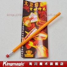 Wholesale Pencil Penetration Thru Money by Copperfield/magic tricks/magic set/magic props/close up magic/10pcs/lot Free shipping