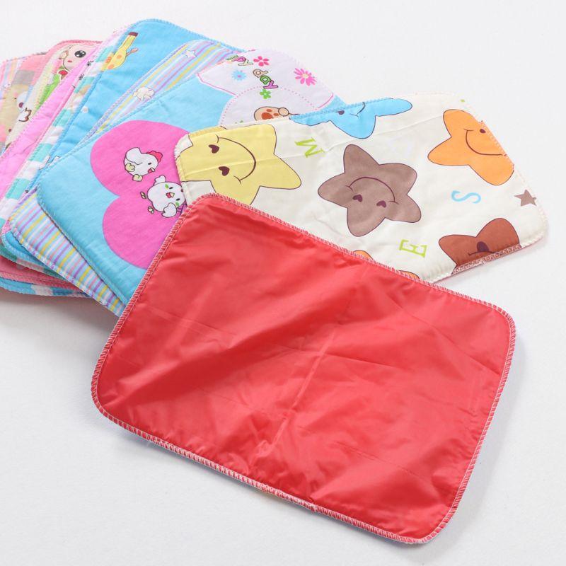 1 Uds 25*35 pañales de bebé colchón pañales reutilizables para recién nacidos sábana cambiante impermeable